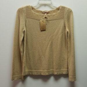 A.P.C. Tan Long Sleeve Wool Sweater